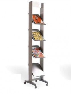 Présentoir pour brochures en aluminium - Devis sur Techni-Contact.com - 1