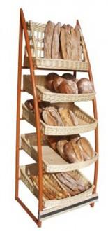 Présentoir pour pain en osier blanc - Devis sur Techni-Contact.com - 1