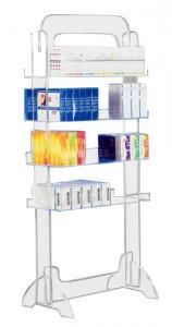 Présentoir produits plexi 4 étages - Devis sur Techni-Contact.com - 1