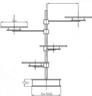 Présentoir tournant à étages - Devis sur Techni-Contact.com - 1