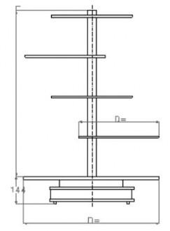 Présentoir tournant rotatif - Devis sur Techni-Contact.com - 2
