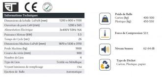 Presse balle carton 500 kg - Devis sur Techni-Contact.com - 3