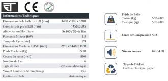 Presse carton à chargement frontal - Devis sur Techni-Contact.com - 3