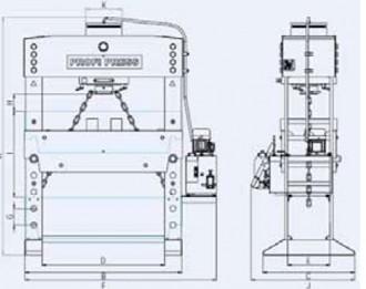 Presse verticale hydraulique motorisée - Devis sur Techni-Contact.com - 2