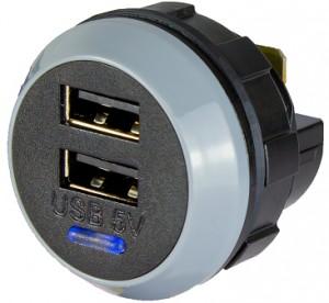 Prise USB ronde à encastrer ou à plaquer - Devis sur Techni-Contact.com - 1