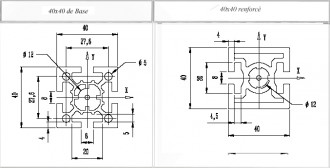 Profilé aluminium 40x40 - Devis sur Techni-Contact.com - 1
