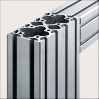 Profilé aluminium 8 160x80 naturel - Devis sur Techni-Contact.com - 1