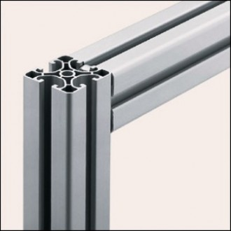 Profilé aluminium 8 40x40 E naturel - Devis sur Techni-Contact.com - 1