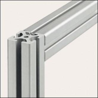 Profilé aluminium 8 40x40 naturel - Devis sur Techni-Contact.com - 1