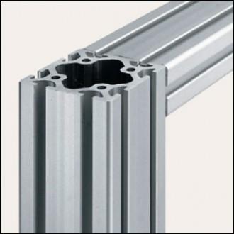Profilé aluminium 8 80x80 naturel - Devis sur Techni-Contact.com - 1