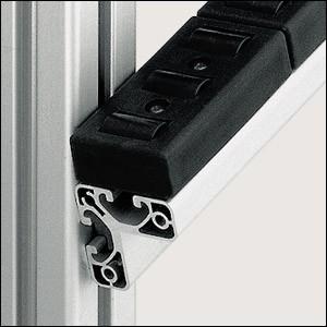 Profilé aluminium 8 W40x40 E naturel - Devis sur Techni-Contact.com - 1