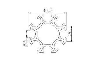 Profilé aluminium octogonal - Devis sur Techni-Contact.com - 3