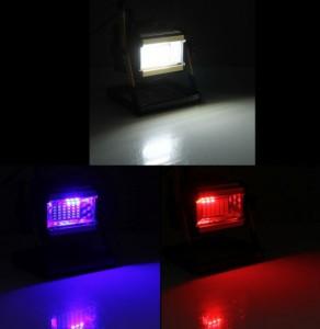 Projecteur LED 3 couleurs luminosité intense - Devis sur Techni-Contact.com - 1