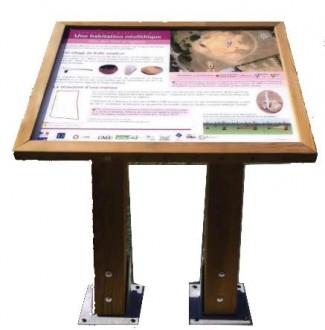 Pupitre d'information en bois - Devis sur Techni-Contact.com - 2