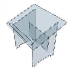 Pupitre de table en plexiglass - Devis sur Techni-Contact.com - 2