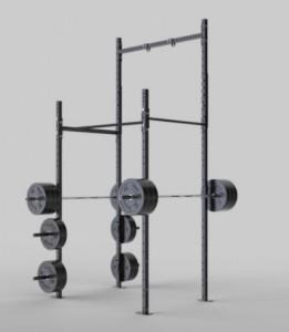 Rack de musculation squat 2 barres de traction - Devis sur Techni-Contact.com - 1