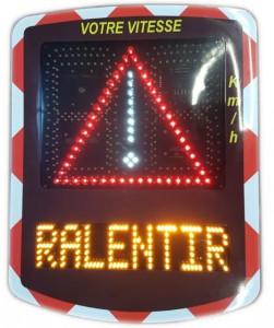 Radar pédagogique de sécurité routière affichage 3 couleurs - Devis sur Techni-Contact.com - 2