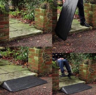 Rampe de seuil handicapés en caoutchouc - Devis sur Techni-Contact.com - 4