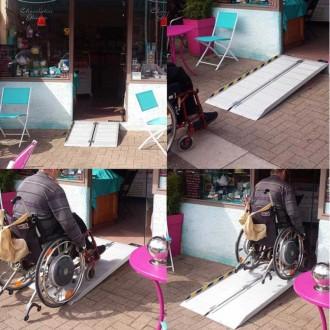 Rampe handicapé mobile en aluminium - Devis sur Techni-Contact.com - 2