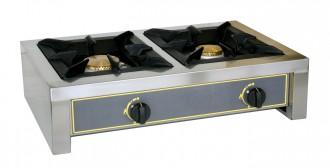 Réchaud à gaz inox à 2 brûleurs - Devis sur Techni-Contact.com - 1