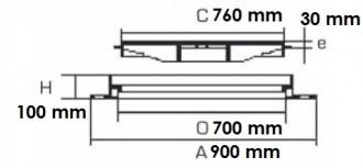 Regard carré avec cadre alvéolé D 400 - Devis sur Techni-Contact.com - 2
