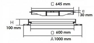 Regard de chaussée carré D 400 - Devis sur Techni-Contact.com - 2