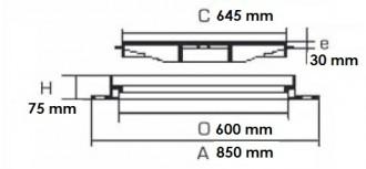 Regard de chaussée en fonte carré D 400 - Devis sur Techni-Contact.com - 2