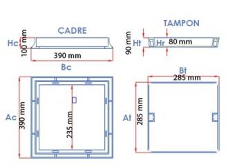 Regard en fonte à paver C 250 - Devis sur Techni-Contact.com - 2