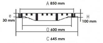 Regard en fonte carré E 600 - Devis sur Techni-Contact.com - 2