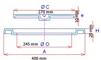 Regard en fonte de trottoir C 250 - Devis sur Techni-Contact.com - 2