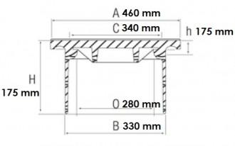 Regard en fonte pour boîte de branchement C 250 - Devis sur Techni-Contact.com - 2