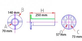Rehausse de bouche à clé hexagonale - Devis sur Techni-Contact.com - 2