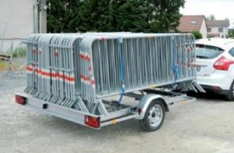 Remorque porte-barrières 1 essieu - Devis sur Techni-Contact.com - 2