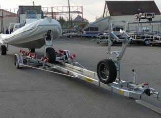 Remorque porte bateau petites quilles 960 kg - Devis sur Techni-Contact.com - 1