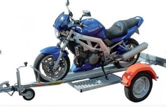Remorque porte moto à timon droit - Devis sur Techni-Contact.com - 1