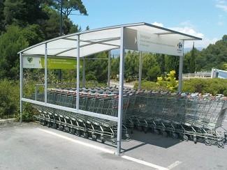 Rénovation peinture abri chariots supermarchés - Devis sur Techni-Contact.com - 2