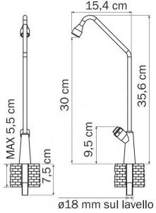 Robinet bouton poussoir 1 sortie - Devis sur Techni-Contact.com - 2