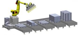 Robot de palettisation sur rail - Devis sur Techni-Contact.com - 1
