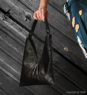 Sac à main en cuir noir - Devis sur Techni-Contact.com - 1