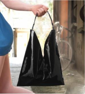 Sac à main femmes en cuir vernis noir - Devis sur Techni-Contact.com - 1