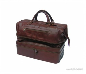 Sac de voyage cuir avec poignée télescopique - Devis sur Techni-Contact.com - 2