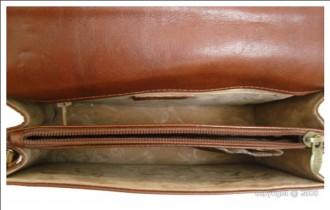 Sacoche à rabat cuir marron clair - Devis sur Techni-Contact.com - 2