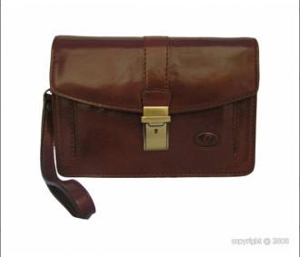 Sacoche cuir marron avec fermeture à clé - Devis sur Techni-Contact.com - 1