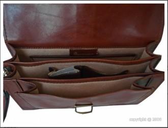 Sacoche cuir marron avec fermeture à clé - Devis sur Techni-Contact.com - 2