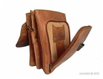 Sacoche en cuir à deux soufflets - Devis sur Techni-Contact.com - 2