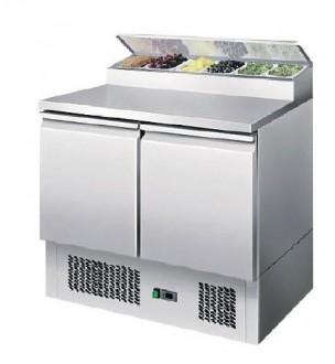 Saladette réfrigérée 2 portes à toit ouvrant - Devis sur Techni-Contact.com - 1