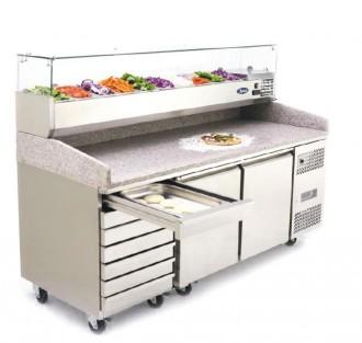Saladette réfrigérée à 2 portes - Devis sur Techni-Contact.com - 1