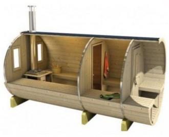 Sauna tonneau en bois - Devis sur Techni-Contact.com - 2