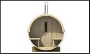 Sauna tonneau en bois - Devis sur Techni-Contact.com - 3