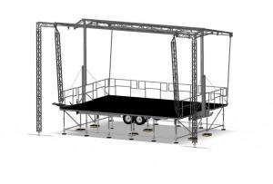 Scène mobile avec hauteur variable - Devis sur Techni-Contact.com - 1